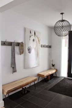 Here is a DIY project I completed back in December. Simple mid-century modern hairpin leg benches for the entryway!   ...