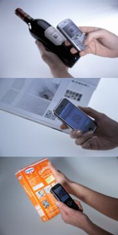 Scan barcodes right from your mobile phone using NeoReader!  Super quick and convenient.