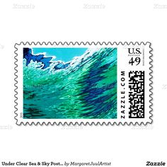 Under Clear Sea & Sky Postage Stamp by M. Juul