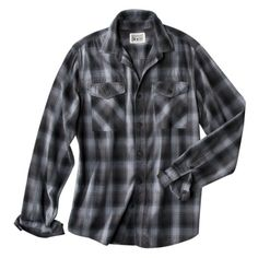 Converse® One Star® Men's Long Sleeve Top -Black Plaid - teen boy - easy alt for teen boy if no vest can be found...