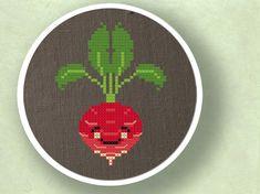 Happy Radish. Cross Stitch PDF Pattern by andwabisabi on Etsy, $3.00