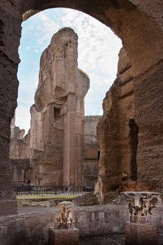 Terme di Caracalla is a vast complex of baths of the Emperor Caracalla. It's comprised of baths, gyms, libraries, shops, and gardens and so much more! Be sure to see these amazing remnants.