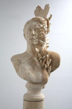 Morgan Herrin, Untitled, dimensional lumber (2x4's), h: 82 x w: 18 x d: 12 in , 2008    The wood carved barnacles on that sculpture are quite astounding.
