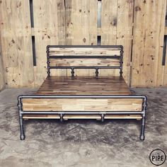 DIY Industrial Bed Frame Design Ideas For Inspiration - Metal Pipe, Iron Pipe, Plumbing Pipe, Pipe Furniture, Industrial Furniture, Furniture Plans, System Furniture, Furniture Vintage, Furniture Chairs