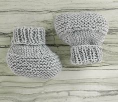Flat Knit Baby Booties Free Knitting Pattern : - New Ideas