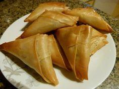 Sambussa mit Hackfleischfüllung, Ägyptische Rezepte, Fillo Teig, Ägyptisch kochen