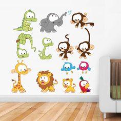 Extra Animal Wall Stickers - Children's Decor - By Vinyl Impression