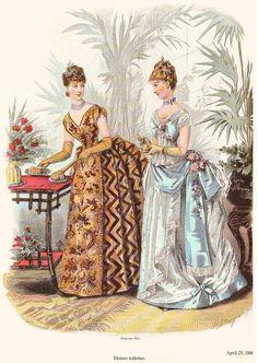 highvictoriana:  1886 La Mode Illustrée.