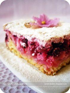 Rybízový koláč s kysanou smetanou