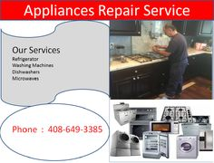 Need refrigerator & washing machine repair service in San Jose California? Work with the appliances repair experts. Call now and get services like never before. Kitchen Aid Appliances, Bosch Appliances, Electronic Appliances, White Appliances, Stainless Steel Appliances, Appliance Repair, Washing Machines, Freezers, Dishwashers