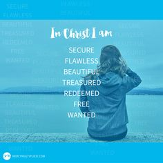 """But you are a chosen people, a royal priesthood, a holy nation, God's special possession, that you may declare the praises of him who called you out of darkness into his wonderful light."" 1 Peter 2:9 Learn more about who you are in Christ with Mercy Multiplied's 'Who I am in Christ' Freedom Tool!"