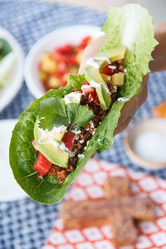 Tacos for Long Life...made with seasoned walnut meat, full of healthy omega-3's