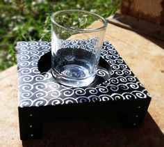 Hand-Painted Mini Candleholder. Buy on etsy right now! Modern decor :) $10