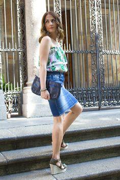Denim-skirt-summer #kissmylook