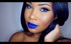 TUTORIAL: Blue Eyeliner & Lips