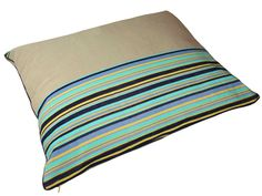 Lucy Collection large oatmeal envelope bed by Benola: #dog #puppy #bed #accessories #stripes #cotton #guatemala #artisan