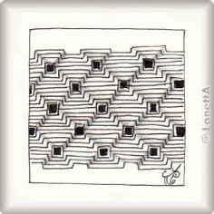 Zentangle-Pattern 'Land Girlz' by Karry Heun, presented by www.musterquelle.de