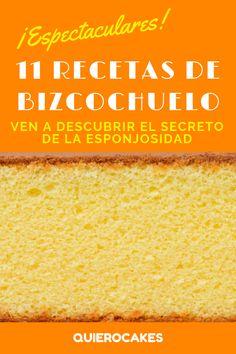 Los 11 BIZCOCHUELOS MÁS ESPECTACULARES que jamás has probado ¡Encuéntralos en QUIEROCAKES! Empanadas, Cupcake Cakes, Bakery, Deserts, Chocolate, Sweet, Recipes, Celestial, Pie Cake