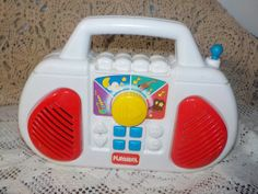 Vintage 1995 HASBRO Playskool select a station Play Radio / New Litsing Not Included In Coupon Discount Sale by Daysgonebytreasures on Etsy