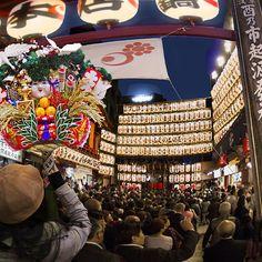 商売繁昌も恋愛成就も!幸運をかき集める熊手が買える、浅草鷲神社の「酉の市」
