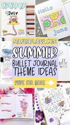 Bullet Journal Set Up, Bullet Journal Ideas Pages, Bullet Journal Inspiration, Book Journal, Bullet Journals, Hello July, Bible Study Notebook, Floral Drawing, Creative Art