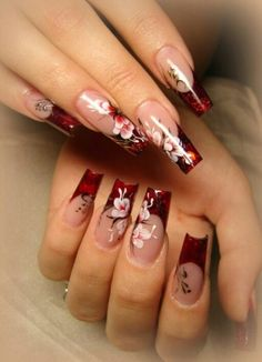 Elegant Asian inspired nail art Source by naphier Different Nail Designs, Colorful Nail Designs, Cool Nail Designs, Glittery Nails, Fancy Nails, Cute Nails, Asian Nail Art, Asian Nails, Elegant Nail Art