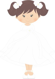 Digi stamps - First Communion Girl. Educational Crafts, Religious Education, Lds Church, Baptism Invitations, First Holy Communion, Christening, Art Projects, Character Design, Clip Art