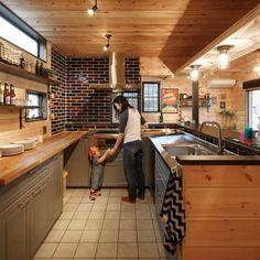 Julie's Kitchen, Home Decor Kitchen, Kitchen Design, House Rooms, Living Spaces, Sweet Home, House Design, Loft, Interior Design