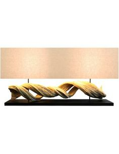 Ordinaire Scandinavian Design   Figuvine Large Console Lamp   Natural Vine Console  Lamp, Come With A Coarse Linen Shade