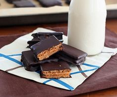 Low Carb Chocolate-Covered Peanut Butter Graham Cracker Recipe | All Day I Dream About Food