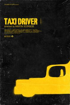 Taxi Driver (1976) ~ Minimal Movie Poster by Maxime Pecourt