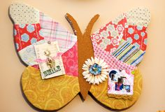 No-Sew Quilted Butterfly Bulletin Board Project Tutorial by Julie Ann Shahin (must register)