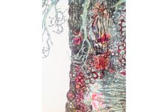 Baobab Tree - Sophie Standing Art   Sophie Standing Art   Textile embroidery art from Africa Japanese Embroidery, Embroidery Art, Machine Embroidery, Baobab Tree, Textile Art, Voss Bottle, Fiber Art, Textiles, Africa