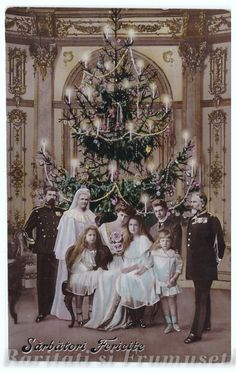 The Romanian Royal Family - Merry Christmas! Victorian Life, Victorian Christmas, Vintage Christmas, Merry Christmas, Romanian Royal Family, Greek Royal Family, History Of Romania, English Monarchs, Peles Castle
