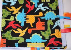 Luxury Baby Minky Blanket with Dinasours by KayLaneSisters on Etsy, $14.95