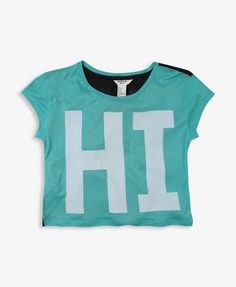 Cute hi bye t-shirt~ Need this It will make it easier to say bye to nerds easier :P