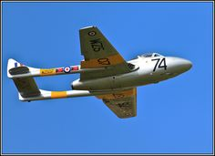 De Havilland Vampire in the markings of 219 Squadron.