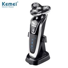 New Division Electric Shaver Razor Kemei Water Rotary Four Segment Electric Razor Full Body Waterproof 6 Stage Waterproof Smart #Affiliate