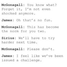 The Marauders and Mcgonagal