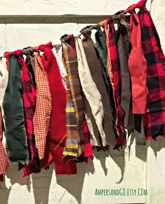 Lumberjack Party Fabric Bunting- I like the idea. We could make it cuter for her party.