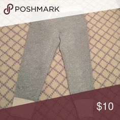 Crew cuts silver sparkle joggers pants So comfy like new condition J. Crew Bottoms Sweatpants & Joggers