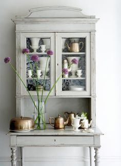 vintage, rustic looking hutch