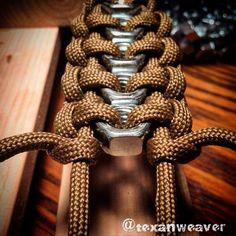 paracord with bolts bracelet. Paracord Braids, Paracord Knots, 550 Paracord, Paracord Bracelets, Men Bracelets, Leather Bracelets, Pandora Bracelets, Leather Jewelry, Diy Jewelry
