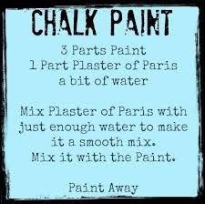 Easy chalk paint recipe!