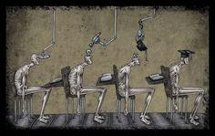 Umutsuzluğa Kapılıyoruz! Toplumsal Sorunları ve Gidişatı Konu Alan 23 İllüstrasyon