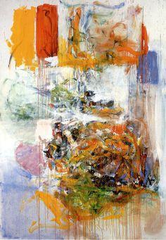 Joan Mitchell - Belle Bete, 1973 by Jan Lombardi Franz Kline, Willem De Kooning, Joan Mitchell, Tachisme, Jackson Pollock, Jasper Johns, Colorful Paintings, Contemporary Paintings, Art Moderne