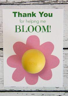 EOS Lip Balm Thank You Free Printable // Smashed Peas and Carrots
