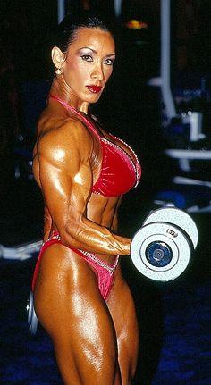 Professional female bodybuilder Denise Masino