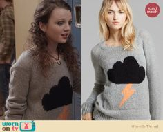 Dorrit's storm cloud sweater on The Carrie Diaries. Outfit Details: http://wornontv.net/26282 #TheCarrieDiaries #fashion