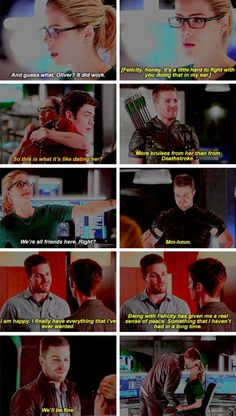 Olicity in Flarrow - Part 1. The Flash 2x08 #Season2 #FlashxArrow